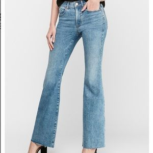 Express High Rise Slim Flare Jeans